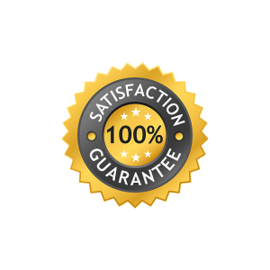 satisfaction label, guarantee label, 100 satisfaction